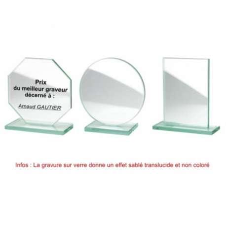 Photo sur verre (trophée)